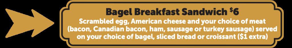 Creole Bagelry bagel breakfast sandwich