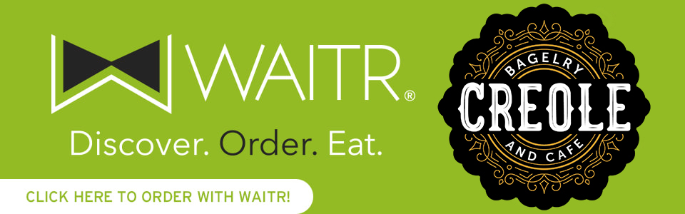 waitr and creole bagelry logo