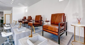 The Blow Dry Bar Pedicure Chairs